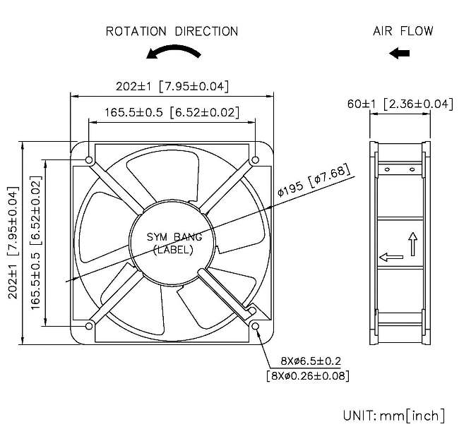 taiwan ec axial cooling fan 110  220v  3000 rpm  650 cfm