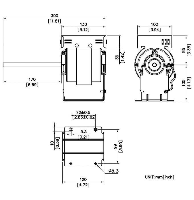 taiwan ec efficiency motor 300x105mm  uffed em300105  uffed